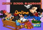 Микки Школа онлайн раскраска