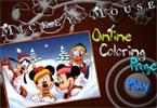 Микки Школьная доска   онлайн раскраска