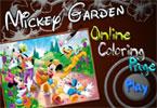Микки дом  онлайн раскраска