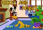 Микки и Плуто 1 онлайн раскраска