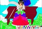 Милая принцесса  онлайн раскраска