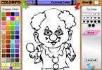 Молодой клоун онлайн раскраска