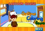 Мультипликационный дом   онлайн раскраска