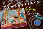Мушкетеры онлайн раскраска