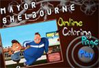 Мэр Шелборна онлайн раскраска