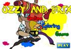 Оззи и Брикс   онлайн раскраска