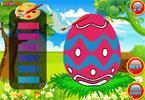 Пасхальные яйца Банни онлайн раскраска