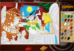 Пиноккио   онлайн раскраска
