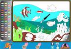 Подводная   онлайн раскраска