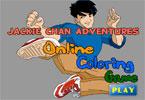 Джеки Чан   онлайн раскраска