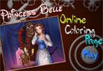 Принцесса Белль онлайн раскраска