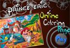 Принц Эрик   онлайн раскраска
