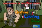 Прогулка по парку онлайн раскраска