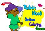 Робин Гуд   онлайн раскраска