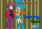 Робот онлайн раскраска