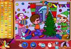 Рождественская вечеринка   онлайн раскраска