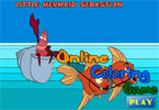 Русалочка Себастьян   онлайн раскраска