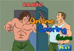 Рэмбо   онлайн раскраска