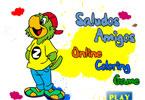 Салудос Амигос онлайн раскраска