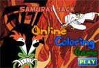Самурай онлайн раскраска