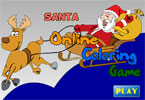 Санта В гостях онлайн раскраска