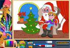 Санта онлайн раскраска