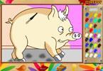 Свин паук онлайн раскраска