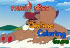 Семейная Несс онлайн раскраска