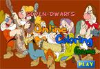 Семь гномов   онлайн раскраска