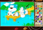Медведь онлайн раскраска