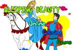 Спящая красавица  онлайн раскраска
