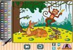 Счастливый в лесу онлайн раскраска