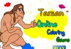 Тарзан   онлайн раскраска