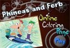 Ферб и Финес онлайн раскраска