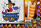 Хэллоуин онлайн раскраска
