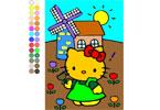 Хэллоу Китти 3 онлайн раскраска