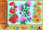 Цветущие Цветы   онлайн раскраска