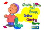 Чарли Браун и Снупи   онлайн раскраска