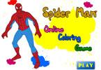 Человек-паук онлайн раскраска