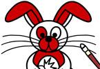 Пасхальный кролик онлайн раскраска