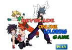 Beyblade   онлайн раскраска