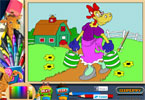 Clarabelle корова  онлайн раскраска