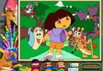 Dora  онлайн раскраска