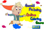 Geppetto и Буратино   онлайн раскраска