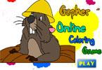 Gopher   онлайн раскраска