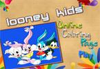 Looney для детей онлайн раскраска