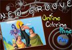 New Groove онлайн раскраска