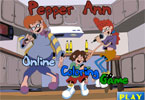 Pepper Ann онлайн раскраска