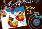 Puffle Party онлайн раскраска