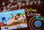 Road Runner онлайн раскраска